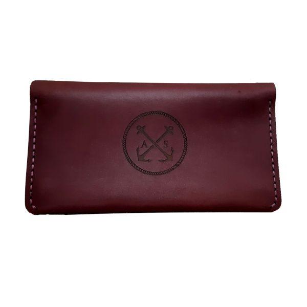 Purse-clutch Case, wine Bordowy portfel