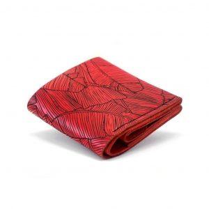 Women's wallet by Luniko! Ręcznie robiony czerwony damski skórzany portfel uszyty z naturalnej włoskiej skóry