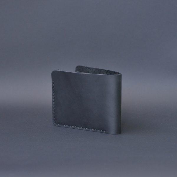 Portfel męski skórzany czarny ręcznie robiony jako oryginalny prezent dla męża
