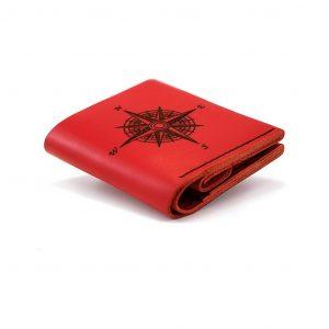 Czerwony portfel damski ręcznie robiony Handmade