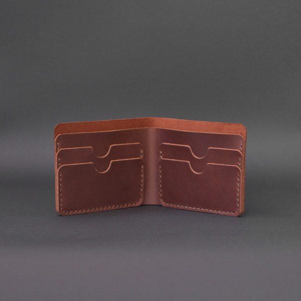 brązowy męski portfel skórzany Handmade Vintage