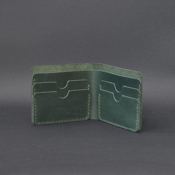 cienki skórzany portfel Handmade Vintage. Praktyczny prezent dla niego