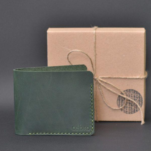 cienki skórzany portfel Handmade Vintage. Stylowy prezent dla niego