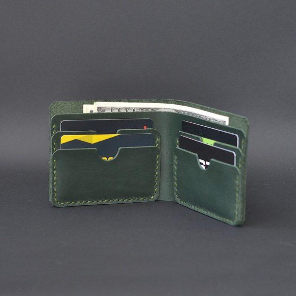 cienki skórzany portfel Handmade Vintage. oryginalny prezent dla niego