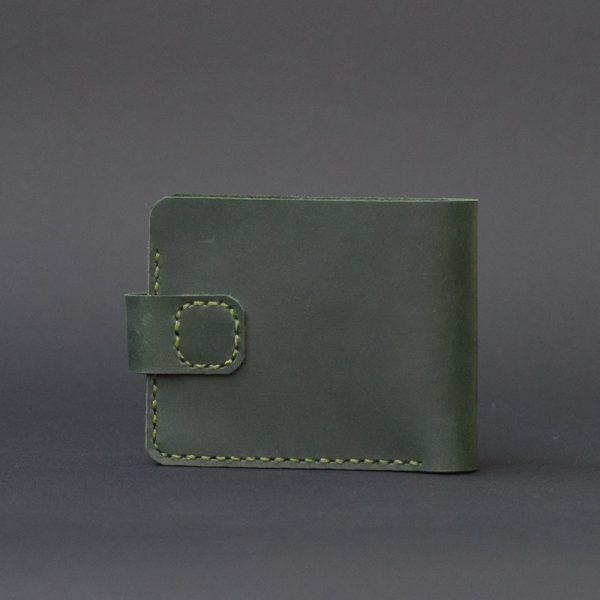 z zapięciem męski skórzany portfel zielony