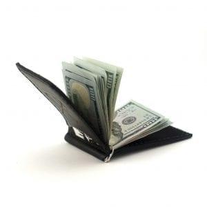 Clip for money bills Luxury, black wallet with money clip