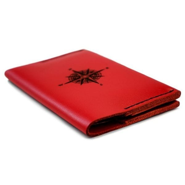 Passport cover Compass - red