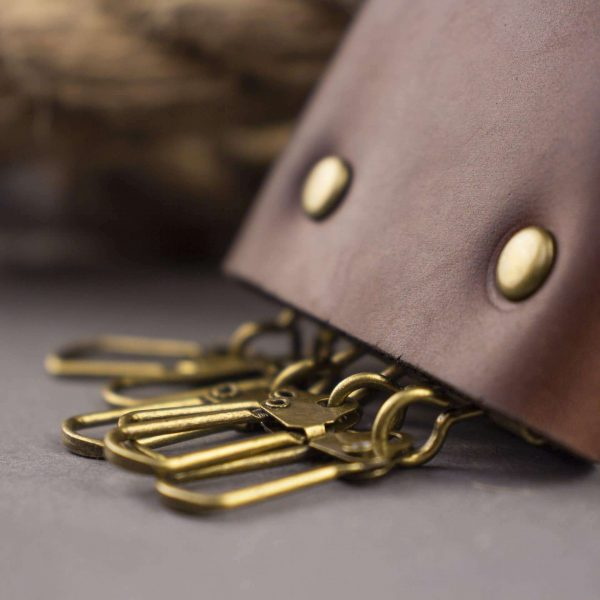 Skórzane etui na 6 klucze - Key case leather (6 keys) brown, handmade