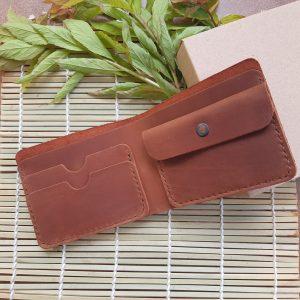 portfel męski skórzany ręcznie szyty wysokiej jakośći handmade full grain leather wallet