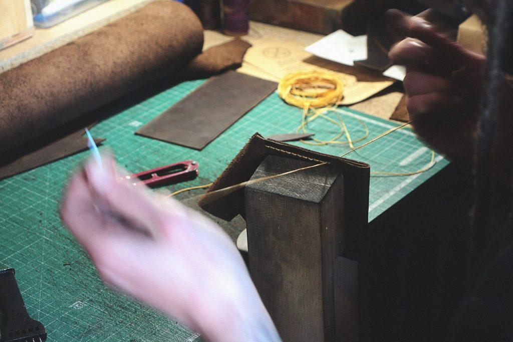 Handmade leather wallet craftsmen