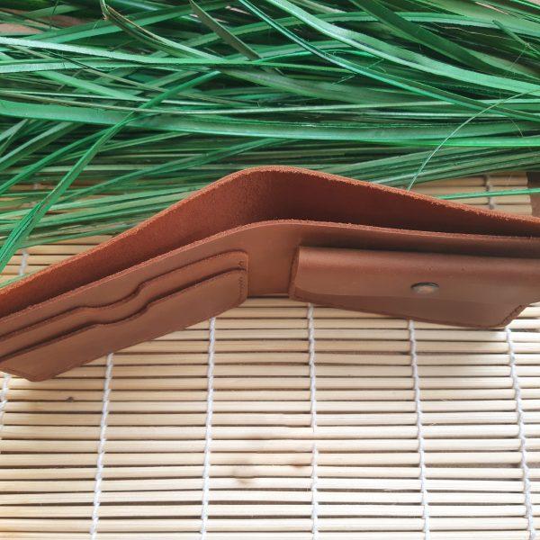 portfel męski skórzany brązowy ręcznie szyty wysokiej jakośći